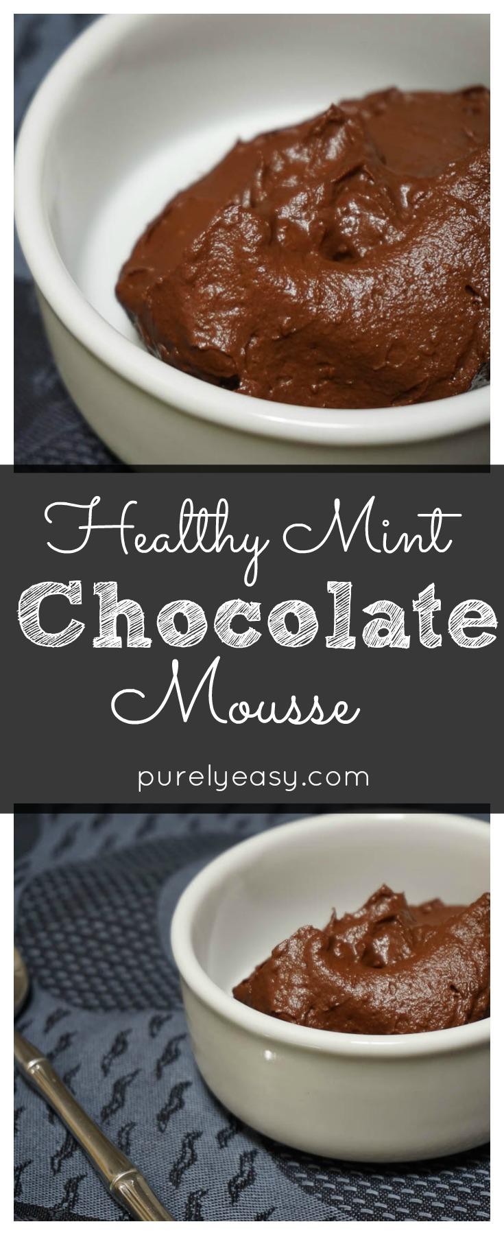 No Guilt Mint Chocolate Mousse