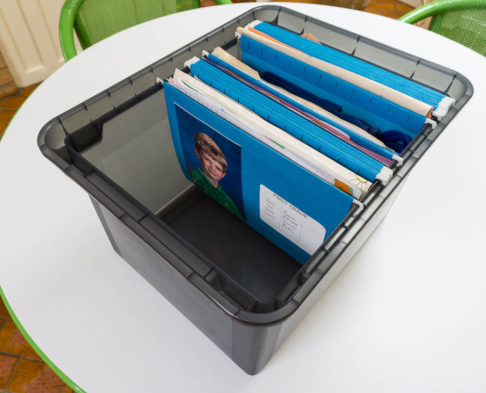 how to organize your homework keepsakes