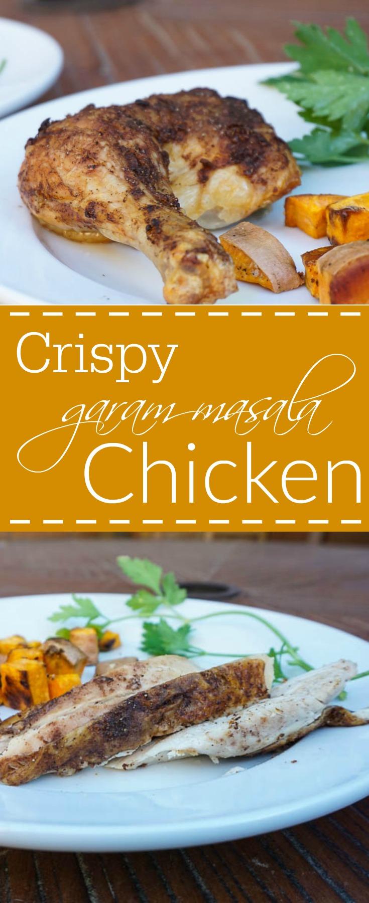 crispy garam masala spatchcocked chicken