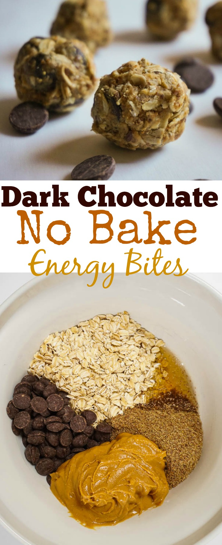dark chocolate no bake energy bites
