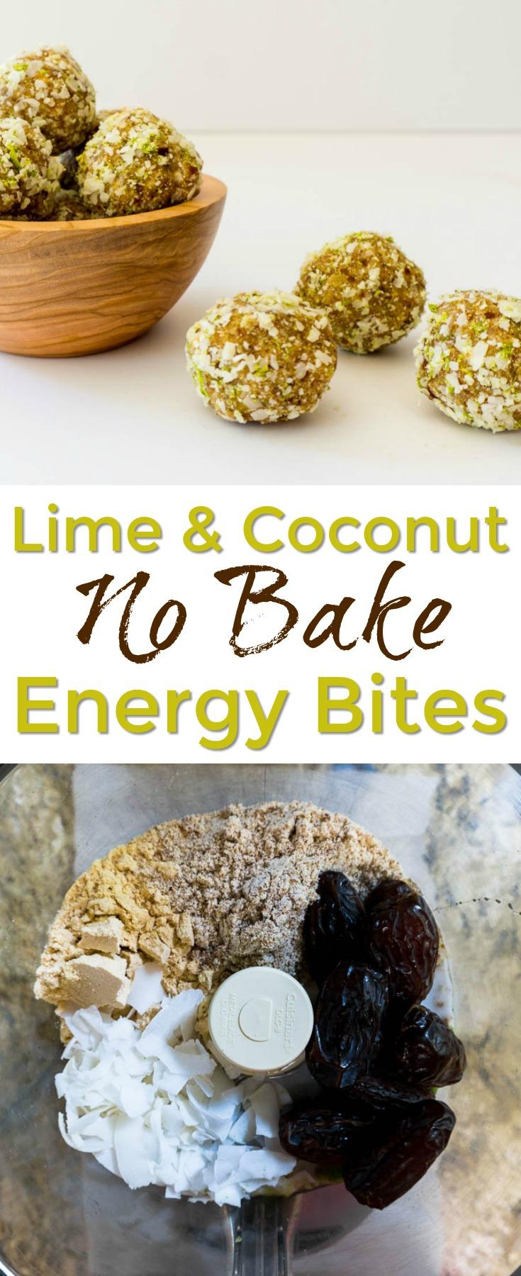 lime coconut no bake energy bites