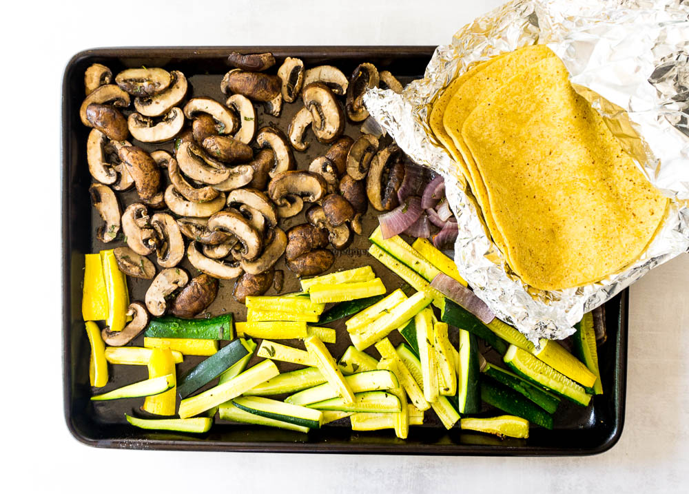 sheet pan portobello tacos