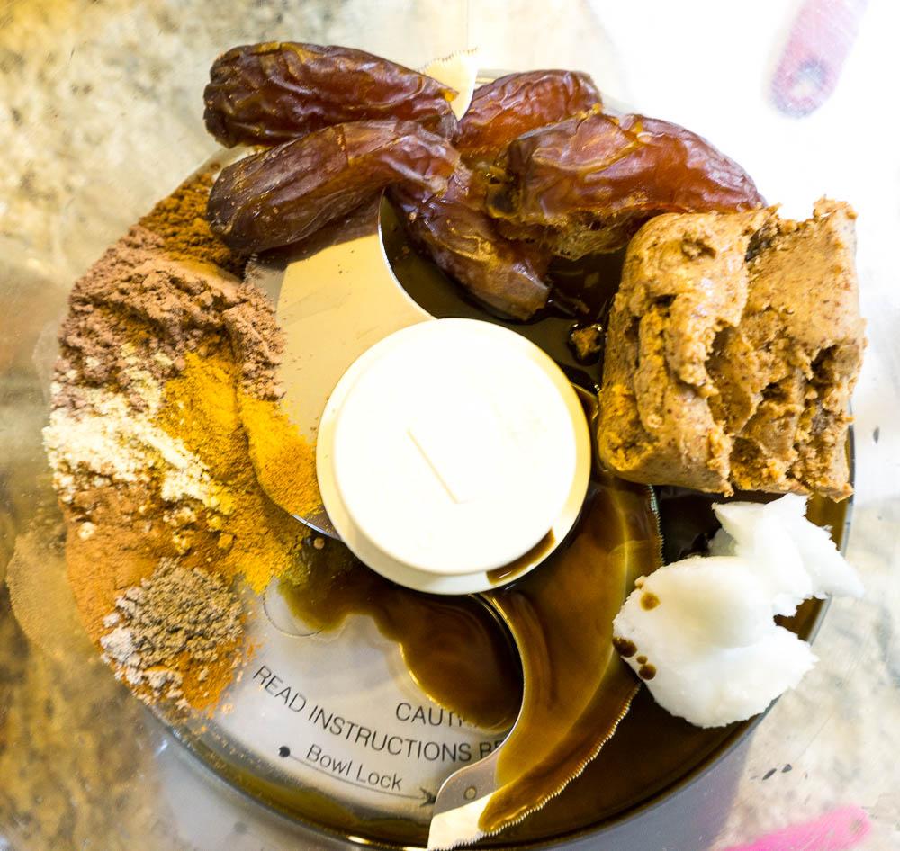 paleo chocolate truffles with golden milk
