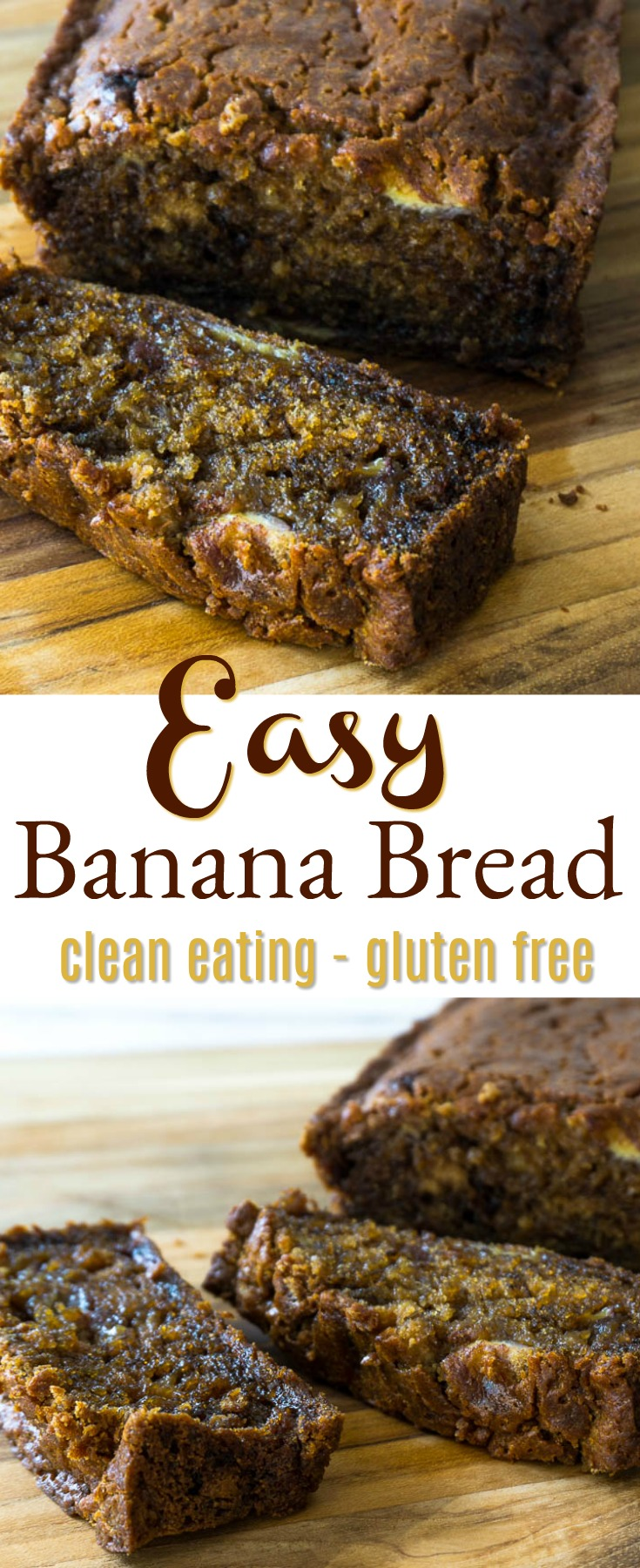 clean eating gluten free banana bread
