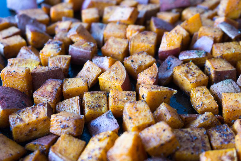 garam masala roasted sweet potatoes