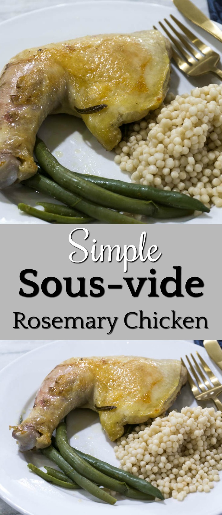 simple sous-vide rosemary chicken